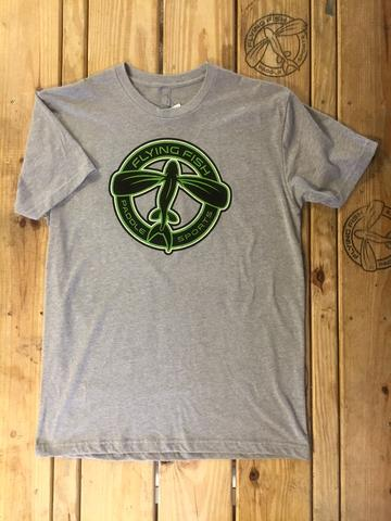 Flying Fish Circle Logo t-shirt: Heather Grey