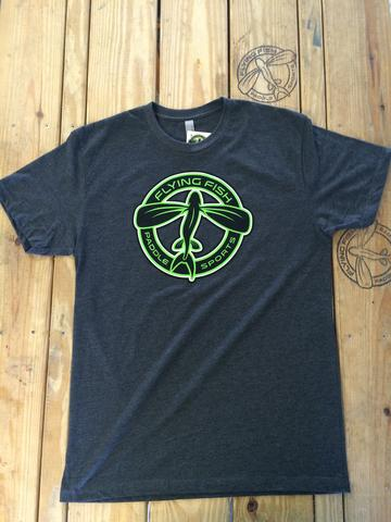 Flying Fish Circle Logo t-shirt: Charcoal Grey